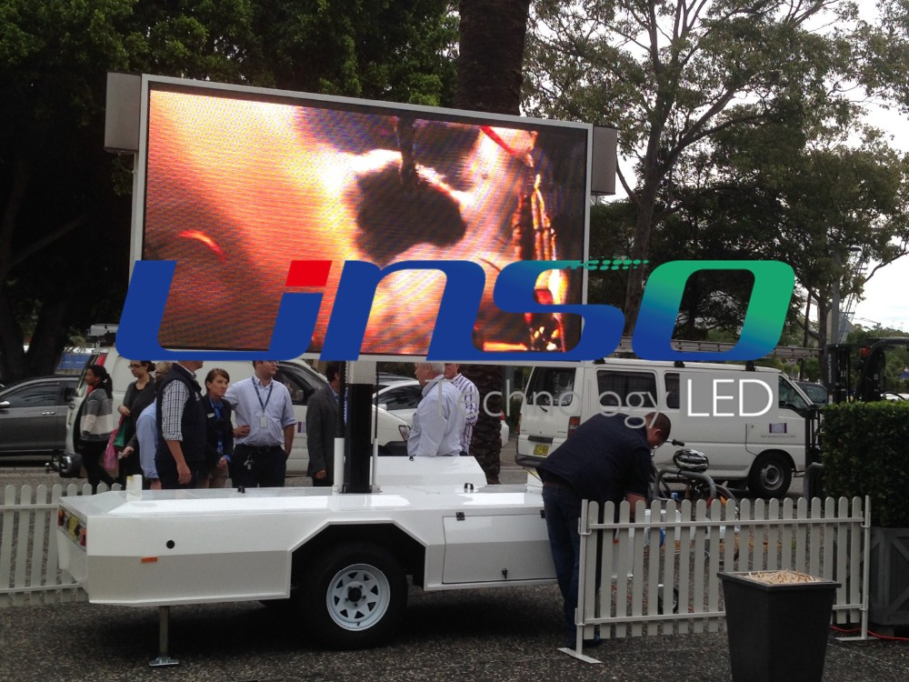 Shanghai Yeeso Mobile advertising display trailer car, P6 P8 led display TV trailer