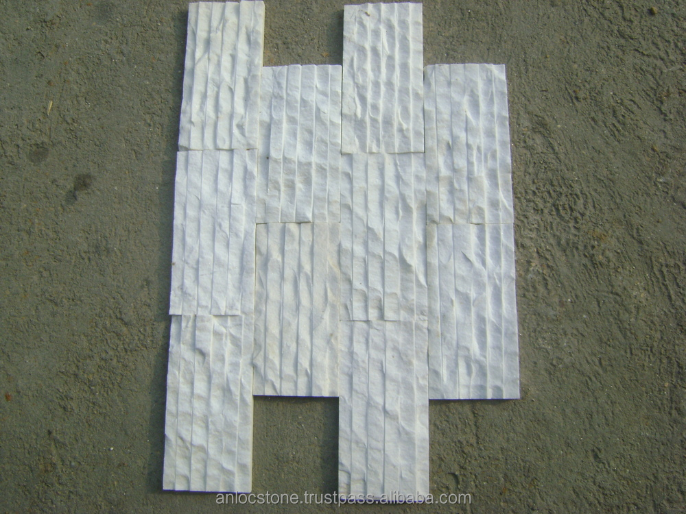 Vietnam white marble split by hand for wall