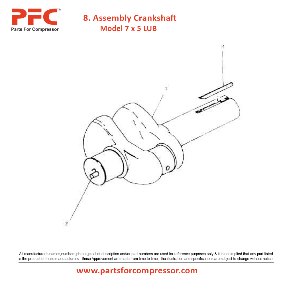 01.08 Assembly Crankshaft For 7 x 5 LUB