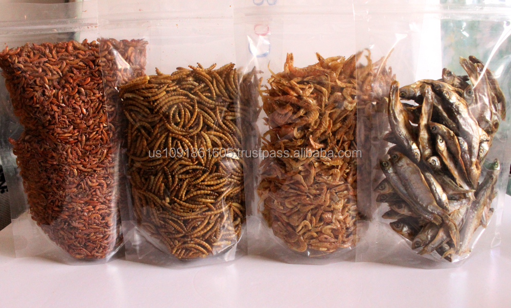 Dried Gammarid Dried Mealworm Dried Shrimp Dried Fish Pet Food
