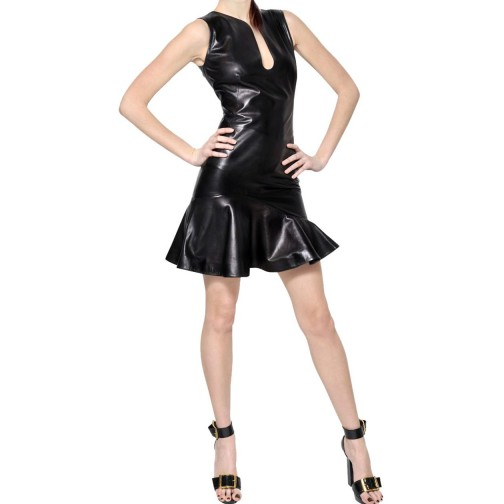 genuine leather dress /leather hot wear/stylish leather women wearing