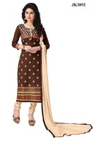 Casual Wear Cambric Cotton Un Stitched Formal Wear Salwar Kameez
