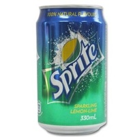 Sprite lemon, sprite sofrt drink 330ml cans / whole soft drinks