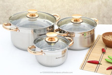 Elegant stainless steel cookware set