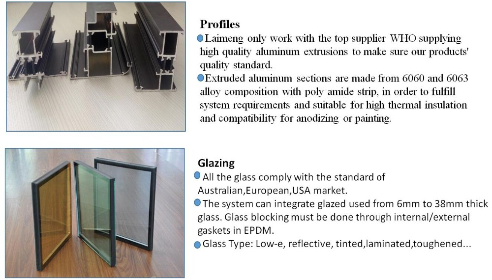 Wholesale Aluminium waterproof balcony folding glass door with