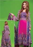 Three piece lawn salwar kameez suit Barkha lawn design no. 789/pakistani salwar kameez wholesale