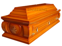 European Solid Rubber Wood Coffin
