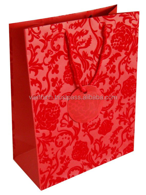 New products 2016 custom printed paper bags / wine packaging paper bag