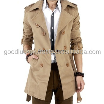 wholesale ladies long coats - NEW Womens Double Breasted Military Coats Stand Collar Wool Leather Long