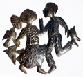 Dancing People Decor Caribbean Metal Wall Art Haitian Artwork For Sale Dance Crafts, Size 60cm