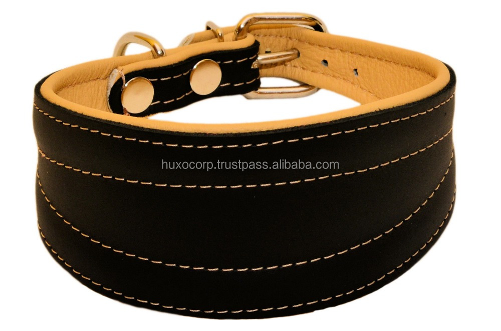 Wholesale Custom Print Logo PU Leather Dog Collar for Medium to Large Dogs