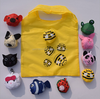 190T Foldable fruits/animal shopping bag