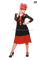 Brand New Black And Red Georgette Kurti
