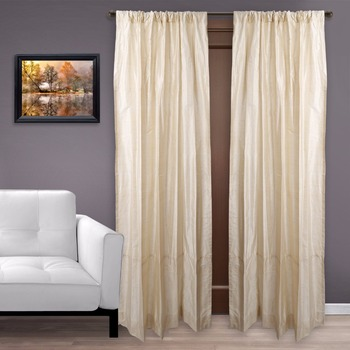Classy Indian Dupioni Silk Curtains