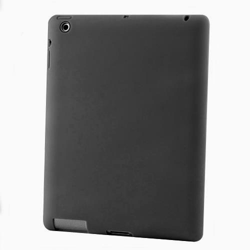 Silicon Case for New iPad 3-Black