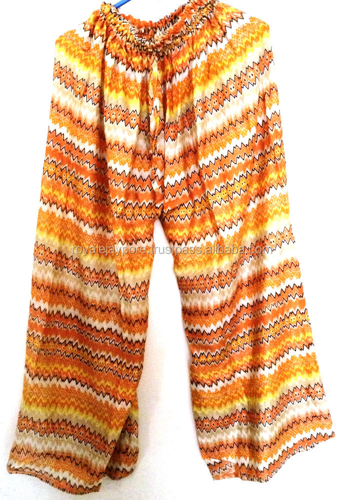 Traditional Beautiful prints New Women's Casual Palazzo Pants cotton pants