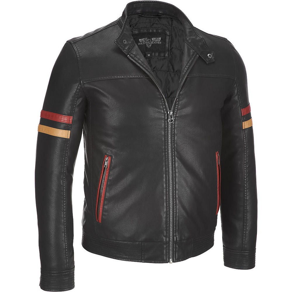 Mens Good quality fashion leather jacket, mens shearling leather jacket