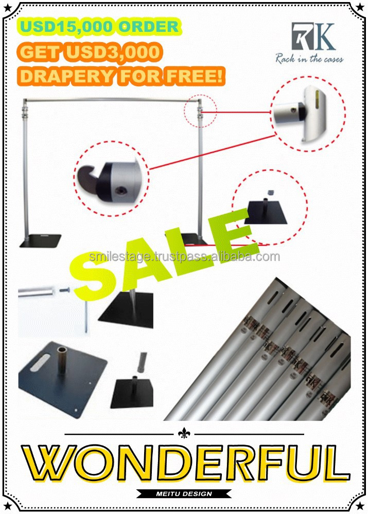 USD3,000 drapery for free foldable photo booth/pipe manufacturers