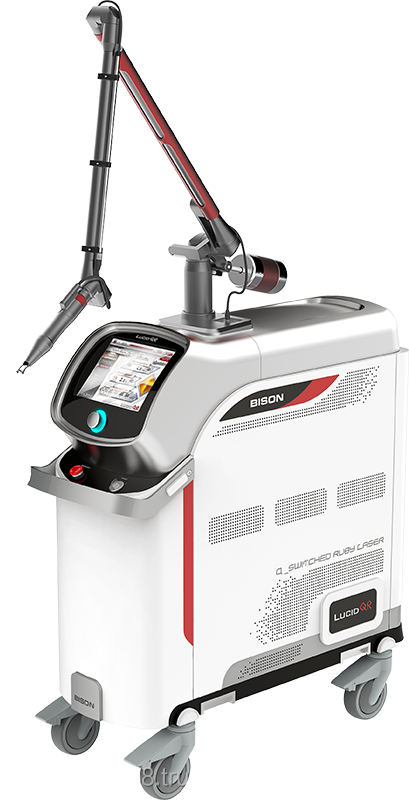 RubyStar (694nm Q-Switched Ruby Laser) for tattoo removal machine/ FlatTop Beam + Auto-Calibration + From 2mm to 10mm HP