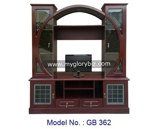 New Models LCD TV Hall Cabinet Unit Gorgeous MDF Furniture With Showcase Design