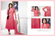 MADHUBALA PINK GEORGETTE ON NET ANARKALI SUIT