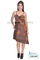 2867 Cotton Printed TunicFashion Dress robe tunique cotton summer dress beachwear dresses