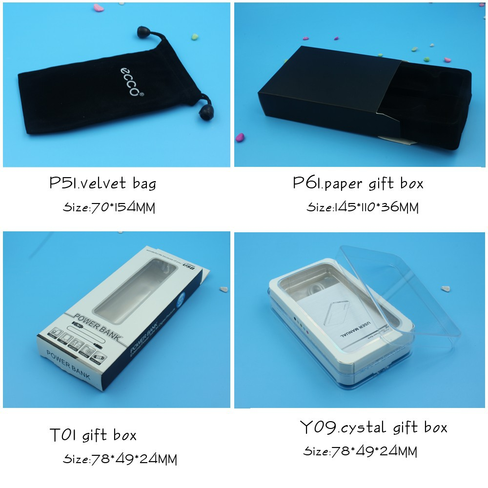 external portable 4000mah power charger with make-up mirror emergency backup round power bank charger