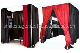 Auminum pipe and drape for shopping mall photo booth