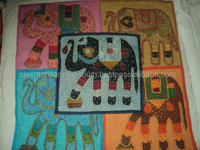 patchwork cushion covers from india elephant model