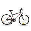 "ASOGO 26"" MTB Bike Mountain Bicycle Matte Grey with Red"