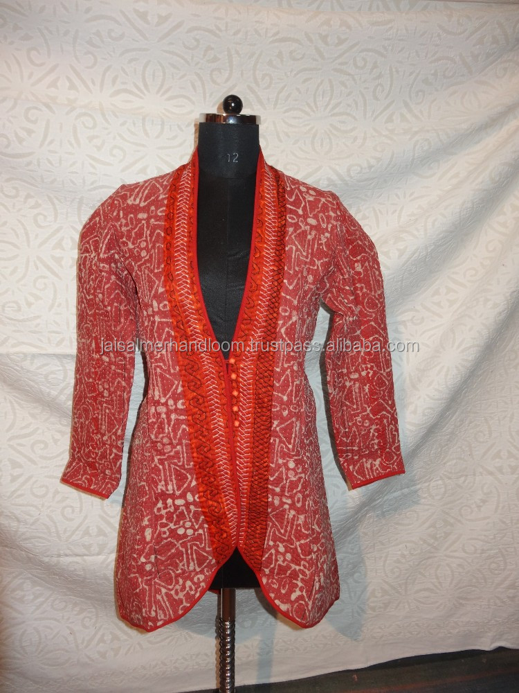 designer Traditional indian embroidery vintage kantha jacket sherwani