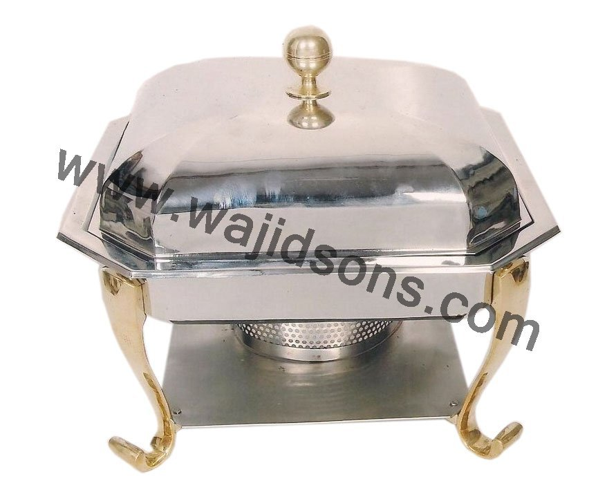new handmade chafing dish for sale | 2016 metal made chafing dish | rounded base standing table chafing dish