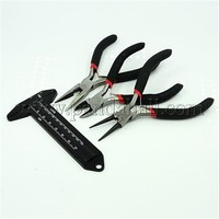 DIY Jewelry Tool Sets, Pliers and Vernier Callipers, Platinum, Black, 110~125x55~75mm