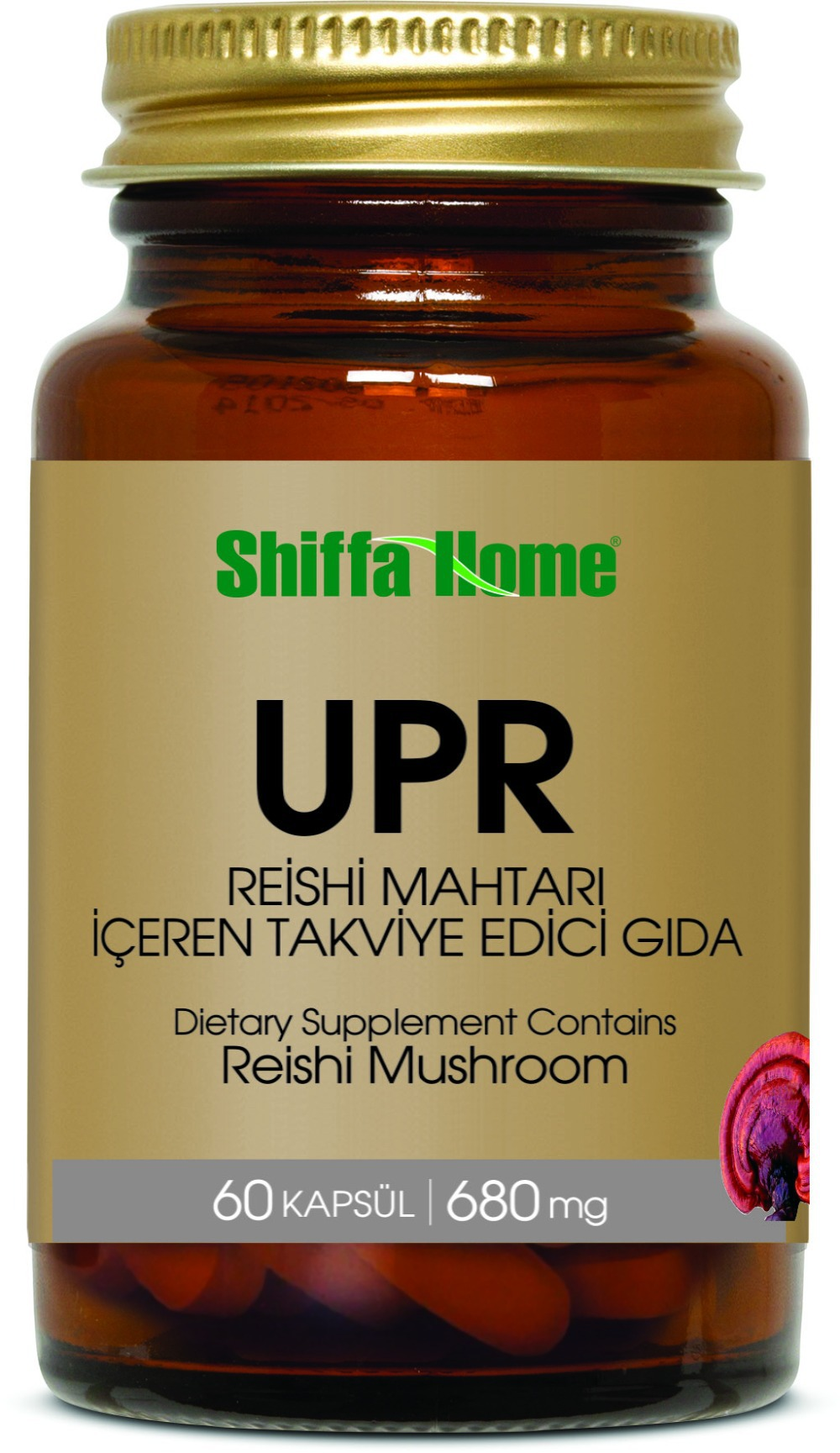 UPR Propolis, Reishi Mushroom, Royal Jelly, Black Grape Seed Extract in Softgel Vegetable Capsules Food Supplement