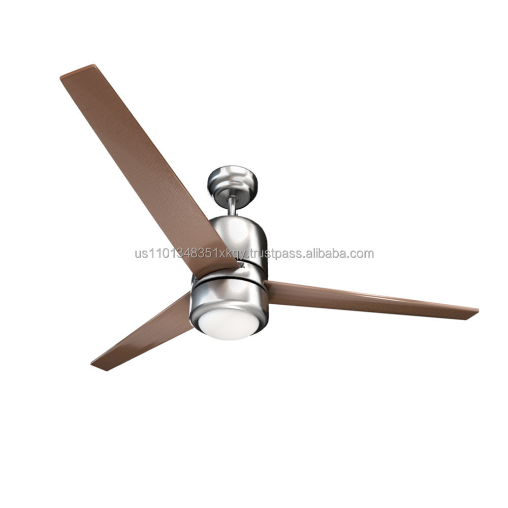 "52"" Ceiling Fan with mountable wall control and light"