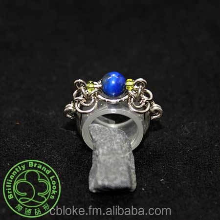 ChainStyle Ring In Lapis Lazuli