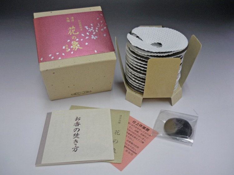 Gyokushodo coil incense, Kaori no Sho Series, Hana no Sho Sandalwood and aloeswood fragrance