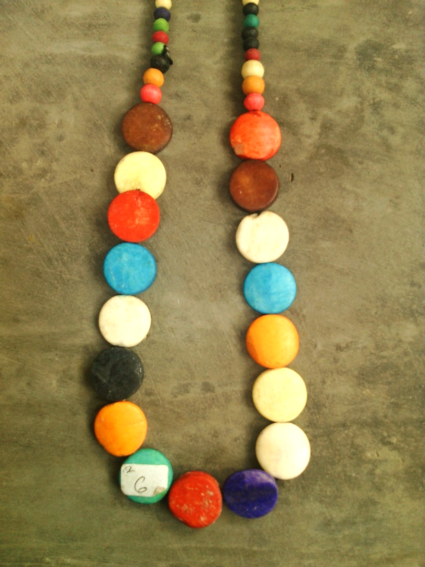 Necklace made of wood handicraft