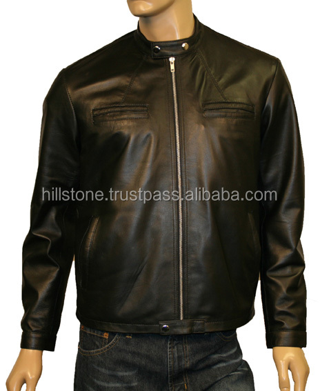 Custom Men's Motorcycle Leather Jacket