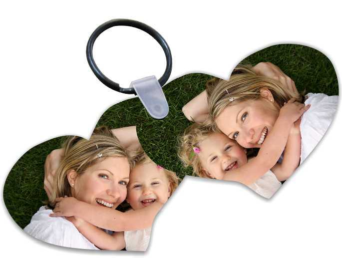 Hot selling sublimation blank love keyring keychain