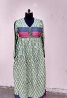 karni india jaipur classical royal touch 1970,s style of folk gauze coton dress