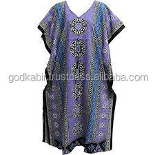 Women's Machine Printed Kaftan/Indian Cotton Bohemian Ethnic Print Long Caftan /Royal design multi Color Popular Kaftan.