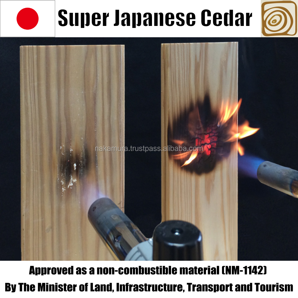 High quality home wall decoration fireproof timber with resistance to fire made in Japan