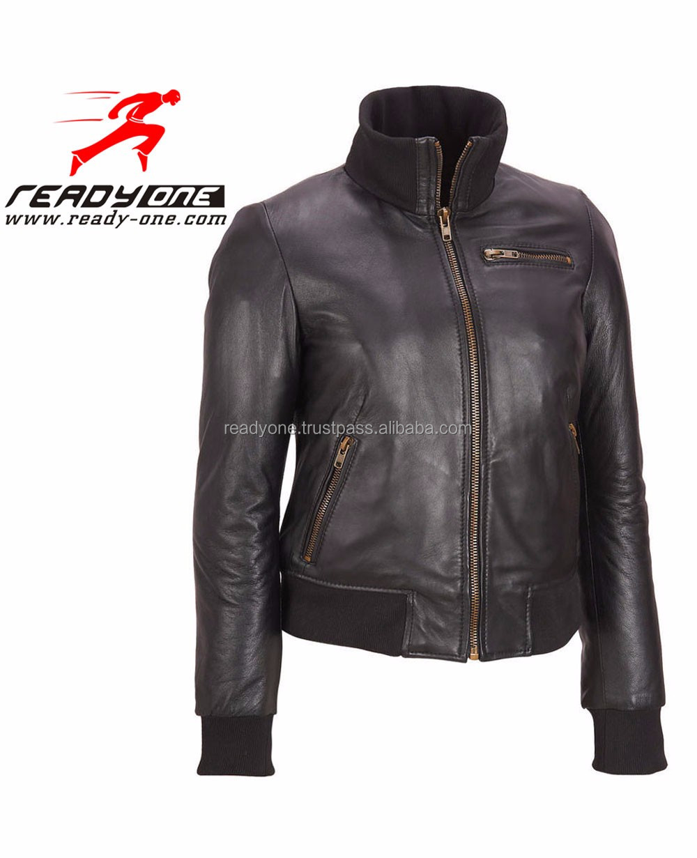 Men Leather Fashion Jacket / Men genuine leather jacket windproof