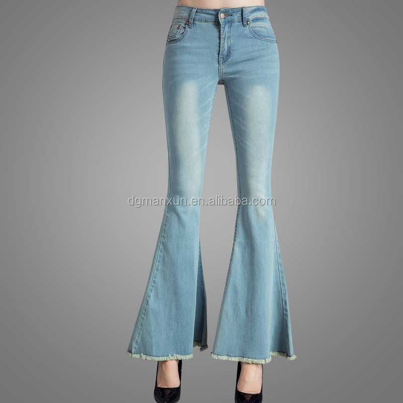 High Quality Women Bell Bottoms New Ladies Jeans Top Design