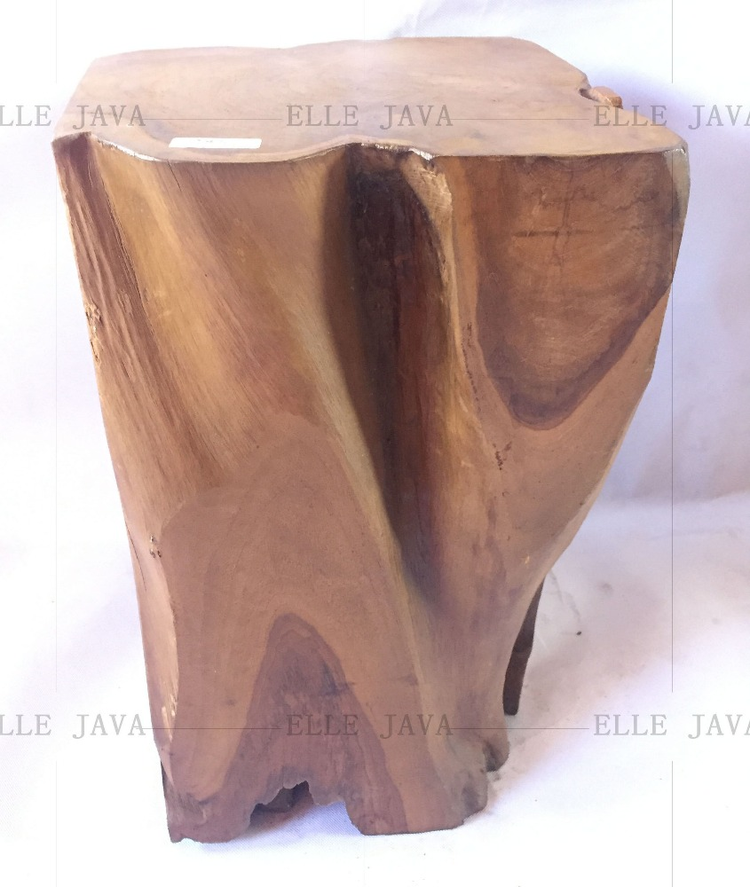 Teak Root Furniture Stool Solid 40x30x30cm for Indoor and Outdoor