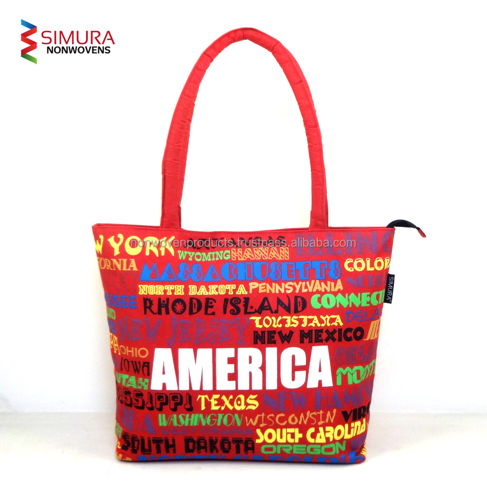 Beach Bag with Colorful Designs