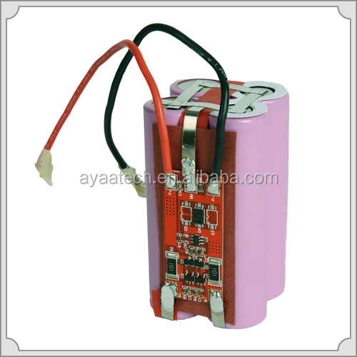 2S2P 7.4V/5.2Ah Li-ion battery pack for E-bike lighting