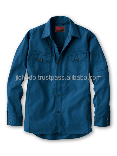 100 % cotton workwear shirts with long sleeves. Made by Japan