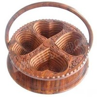 WOODEN FRUIT BASKET style